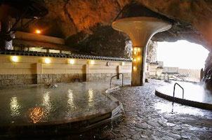 Bokido hot spring bath in cave