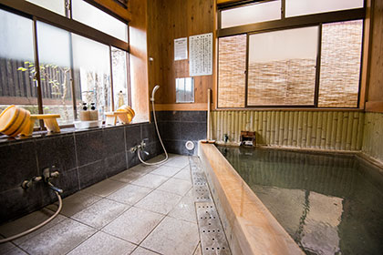 Indoor hot spring bath