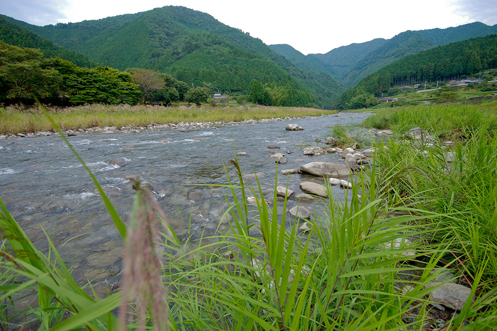River in front of Minshuku Chikatsuyu