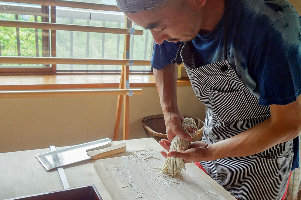 Mr. Nakane making Soba noodles