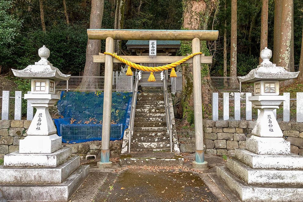 Shrine near entrance to accommodation
