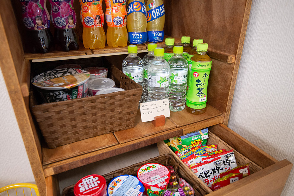 Instant food and drinks for sale